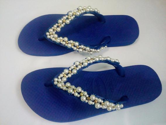 Sandálias Havaianas Decoradas Modelo 01