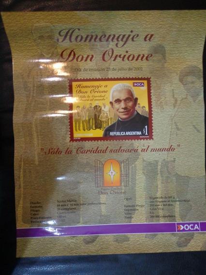 Afiche Del Correo Oca Publicidad Estampilla De Don Orione