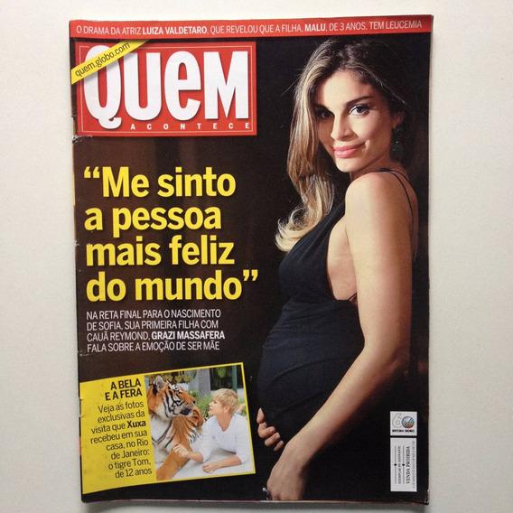 Revista Quem Grazi Massafera Xuxa Isis Valverde Marília A857