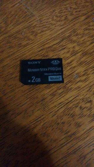 Cartao Memory Stick Pro Duo De 2 Gbs Original Para Psp