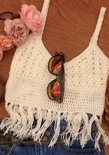 Top Cropped Em Crochê - A Sensação Da Moda Verão 2016