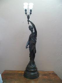 Luminaria Grega De Petit Bronze Com 4 Tulipa Murano 39l4