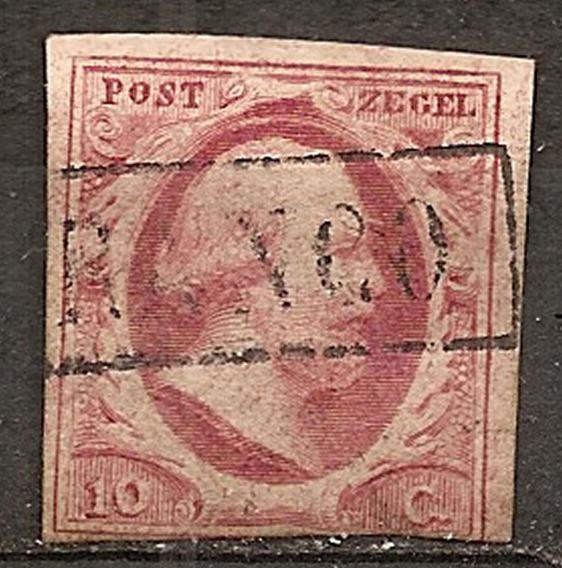 Holanda Nederland A 1852 Catálogo Marca U$ 55 Yv 2 Exelente