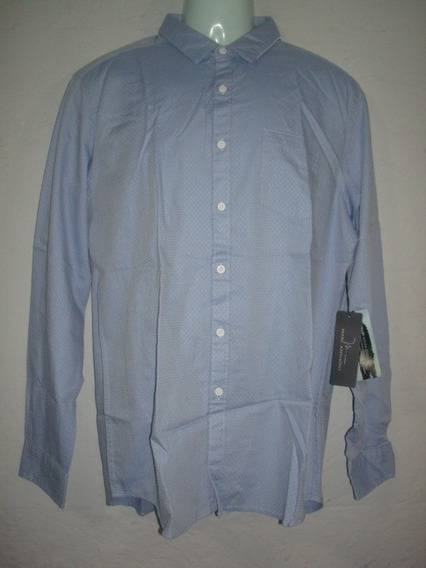 Camisa Marc Anthony Color Azul Cielo Talla L Slim Fit