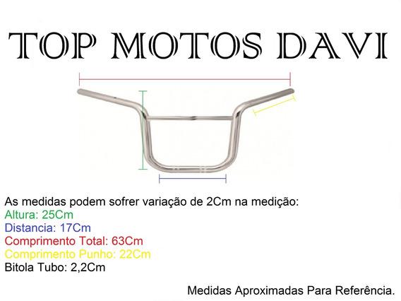 Guidão Moto Motoboy Titan 150 Cromado Sem Fixa Peso