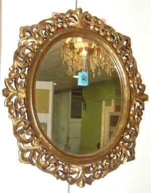 Espejo Antiguedad Vintage Oro Para Sala Comedor Lladro