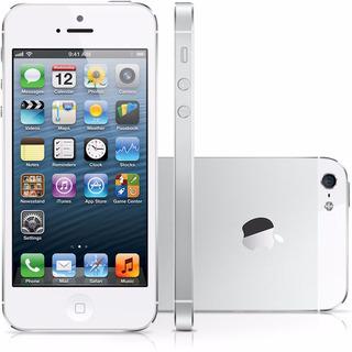 iPhone 5 Bom 64gb Branco Completo Na Caixa C/ Acessórios Des