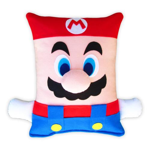 Pelúcia - Almofada Super Mario Bros Artesanal / Antialérgica