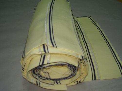 Cuello Para Chombas Amarillo Con Rayas Venta X 30 Unidades