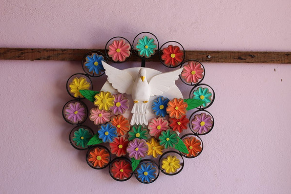 Divino Espirito Santo Com Mandala Colorida