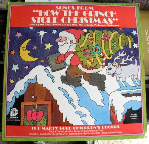 Songs From How Th Grinch Stole Christmas Disco Lp Vinilo Usa
