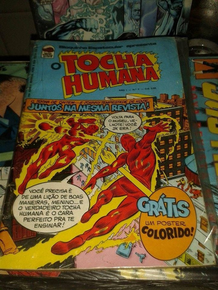 Raro Hq Tocha Humana Em Cores Ano 01 Numero 01 Ed.bloch