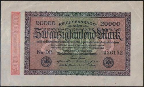 Imagen 1 de 2 de Alemania, 20000 Mark 20 Feb 1923 P85b