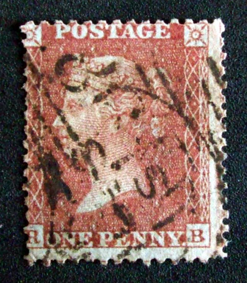 Inglaterra - Sello Sc. 12 1p Rojo Small Crown 14 Usado L3552