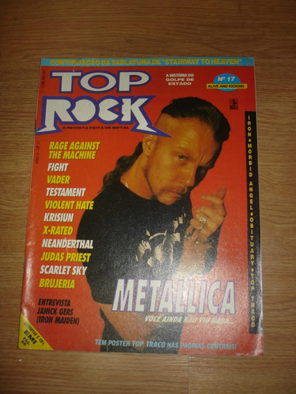 Revista Top Rock Nº 17 (metallica, Fight, Brujeria, Krisiun)