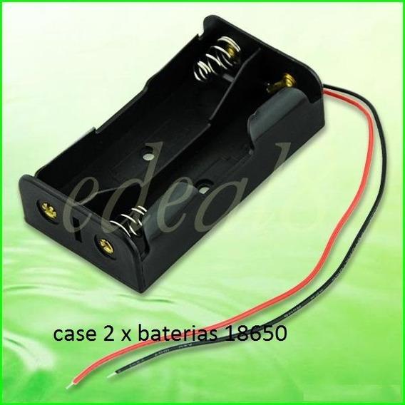 Caixa Plastica Case Box Para 2 Bateria 18650