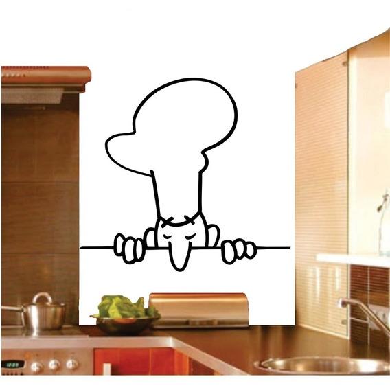 Adesivo Decorativo Chefe Chef Cozinha Copa Jantar Geladeira
