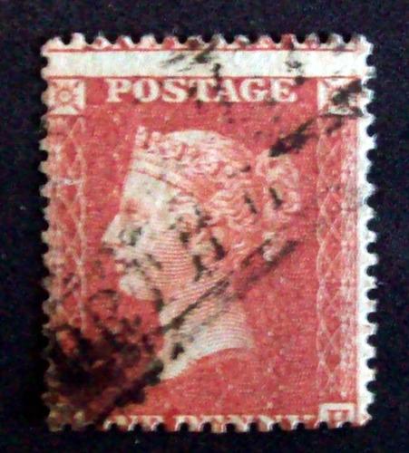Inglaterra - Sello Sc. 16 1p Rojo Large Crown 14 Usado L3567