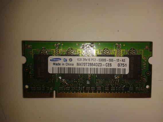 Memória Notebook Samsung Ddr2 1gb 2rx16 Pc2 - 5300s