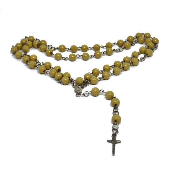 Terço Oração Colar Cordão Crucifixo