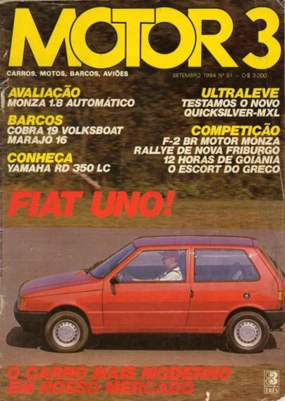 Motor 3 N°51 Monza 1.8 Automático Yamaha Rd 350 Lc Fiat Uno