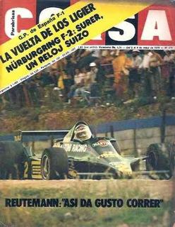 Revista Corsa 674 Ligier Reutemann Nurburgring F2 Surer Gp