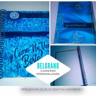 Belgrano Cuaderno Personalizado (anillo Metalico)