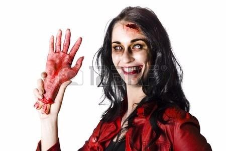 Mano Con Sangre Terror Para Decoración Halloween X1