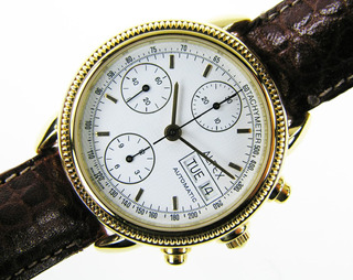 Reloj Chronograph Alfex Tachymeter- Tapa De Cristal