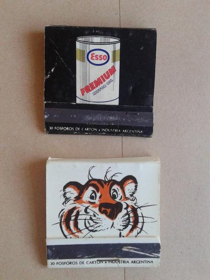 Cajas De Fósforos De Esso- Un Tigre En El Tanque.