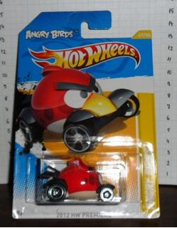 Hot Wheels - 2012 Hw Premiere 47/247 The Angry Bird Vermelho