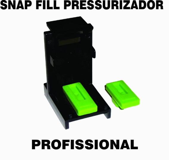 15 Snap Fill Profissional Recarga Cartuchos Hp Lexmark Canon