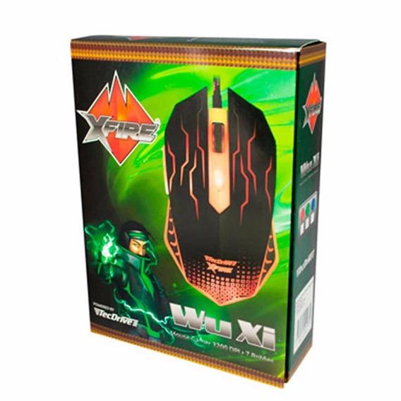 Mouse Gamer Tecdrive Xfire Wuxi 3200 Dpi 7 Botões - Vermelho