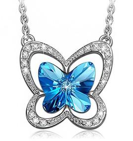 Colar Borboleta Azul - Glam0124