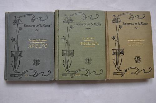 Lote X3 Biblioteca La Nación Ocantos Constant N 457 501 523