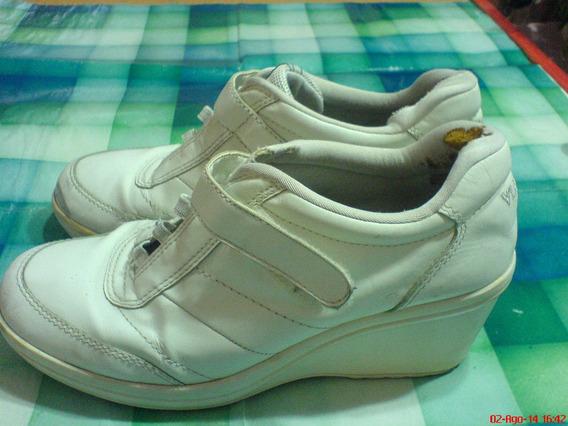 Via Uno Zapatillas Para Dama Con Plataforma Nª 38 C-detalles