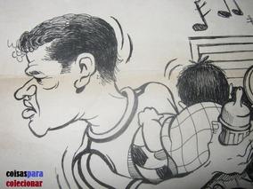 Garrincha Caricatura Jorge Ivan Jornal Última Hora Futebol