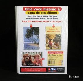 Álbum Fotográfico 200 Fotos 10x15 Cm - Branco Marca Chies