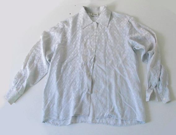 Camisa Seda Gris Clara Brillosa Riva Silk