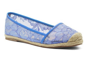 Victorias Secret Zapato Espadrille Azul Talla Mediana Amyglo