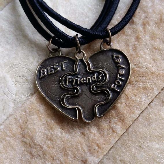 Colar Três Melhores Amigas Gargantilha Best Friends Forever