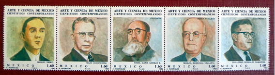 México, Tira Horizontal Sc 1297a Cientificos 1982 Mint L7549