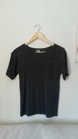 Camiseta Blusa Feminina Cinza Chumbo