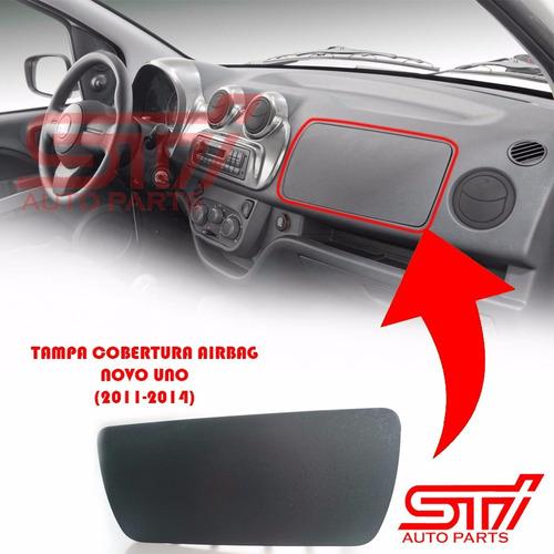 Imagem 1 de 3 de Moldura Tampa Cobertura Falso Airbag + Capa Buzina Novo Uno
