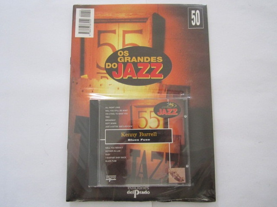 Cd Com Revista Os Grandes Do Jazz Kenny Burrell Lacrado