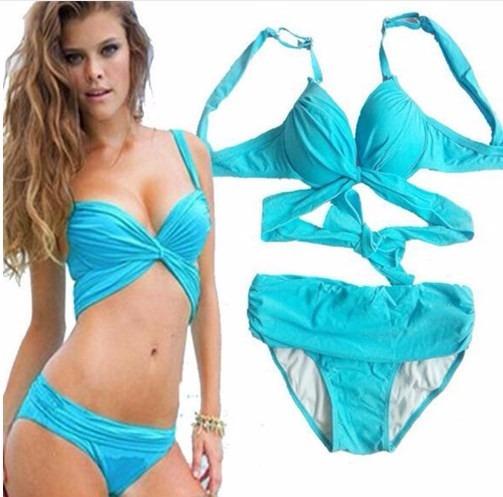 Hermoso Vestido De Baño Bikini Cruzado