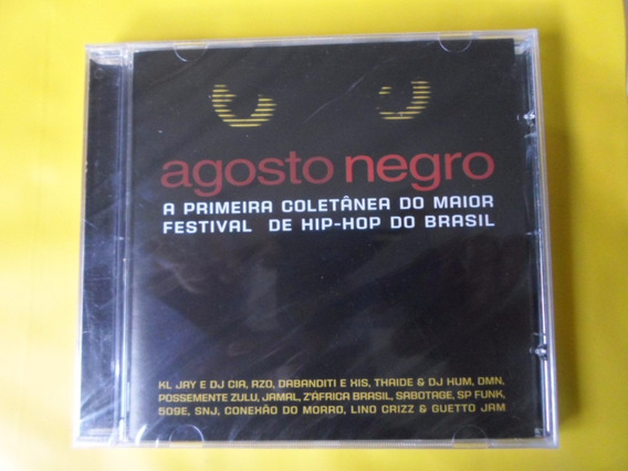 Cd Agosto Negro / Coletânea Maior Festival Hip-hop Do Brasil