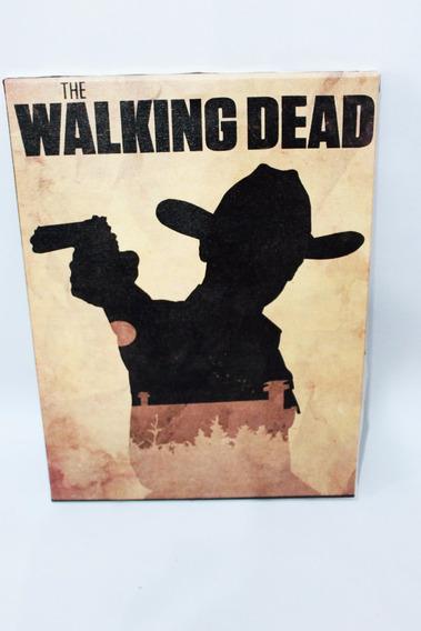 Poster Quadro The Walking Dead Rick Impressão Em Canvas