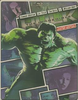 Blu-ray + Dvd Incredible Hulk Increible Hulk 2008 Steelbook