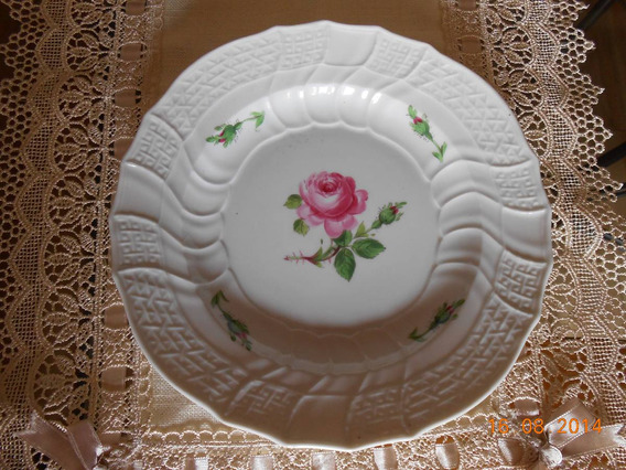 Plato Porcelana Meissen Año1880-1930, Impecable